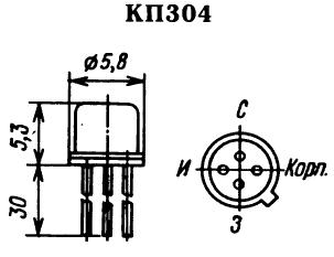 Цоколевка транзистора КП304