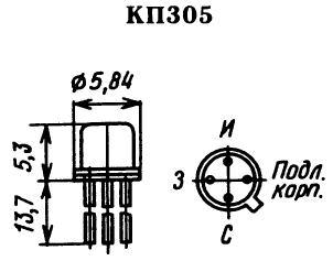 Цоколевка транзистора КП305