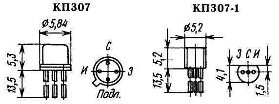 Цоколевка транзистора КП307