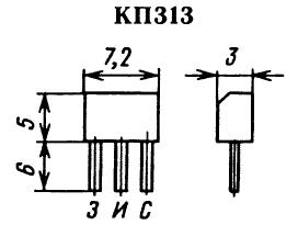 Цоколевка транзистора КП313