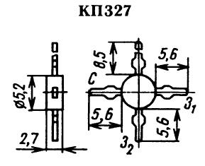 Цоколевка транзистора КП327
