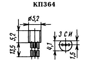 Цоколевка транзистора КП364
