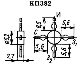 Цоколевка транзистора КП382