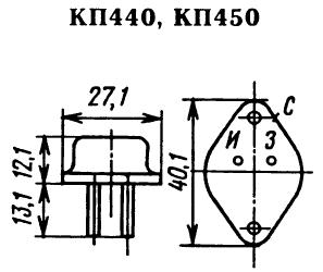Цоколевка транзисторов КП440, КП450