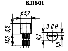 Цоколевка транзистора КП501