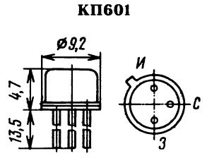 Цоколевка транзистора КП601