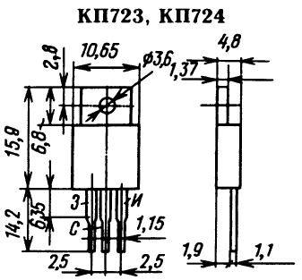 Цоколевка транзисторов КП723, КП724