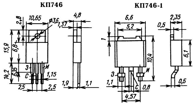 Цоколевка транзистора КП746