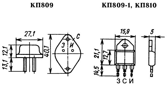 Цоколевка транзисторов КП809, КП810