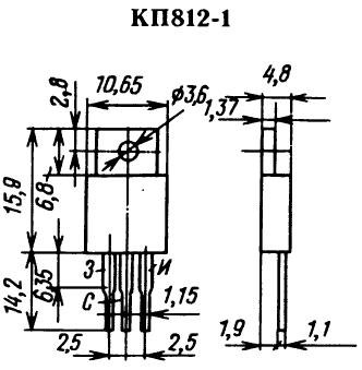 Цоколевка транзистора КП812
