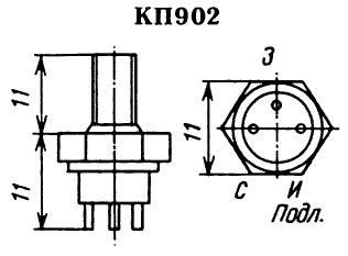 Цоколевка транзистора КП902