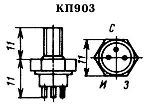 Цоколевка транзистора КП903