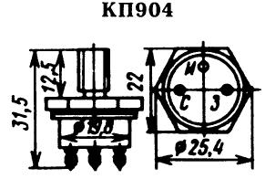 Цоколевка транзистора КП904