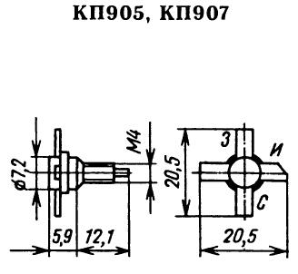 Цоколевка транзисторов КП905, КП907