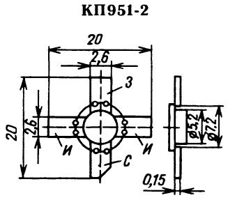 Цоколевка транзистора КП951