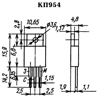 Цоколевка транзистора КП954