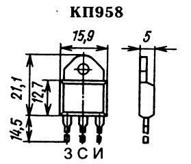 Цоколевка транзистора КП958