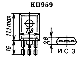 Цоколевка транзистора КП959