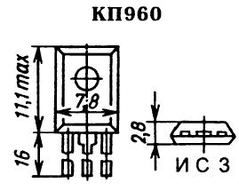 Цоколевка транзистора КП960