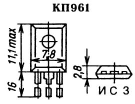 Цоколевка транзистор КП961