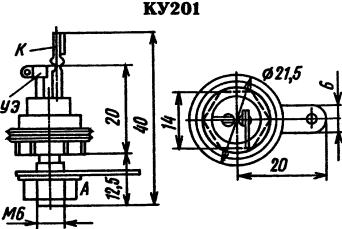 Цоколевка тиристора КУ201