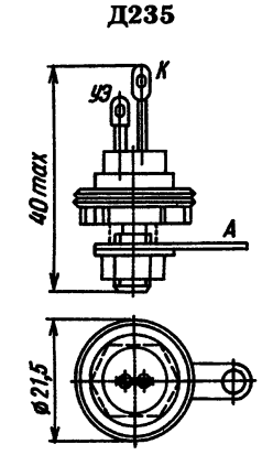 Цоколевка тиристора Д235