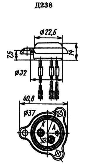 Цоколевка тиристора Д238