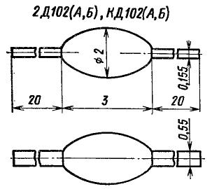 Корпус диодов КД102, 2Д102