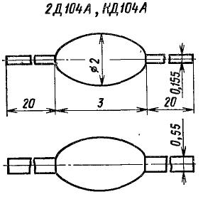 Корпус диода КД104