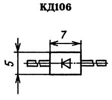 Корпус диода КД106
