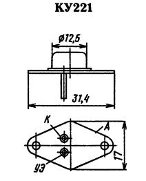Цоколевка тиристора КУ221