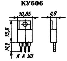 Цоколевка тиристора КУ606