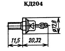 Корпус диода КД204