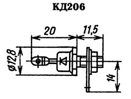 Корпус диода КД206
