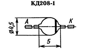 Корпус диода КД208-1