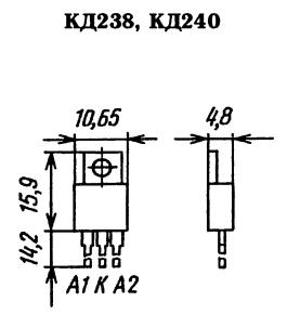 Цоколевка диодных сборок КД238, КД240