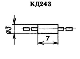 Корпус диода КД243