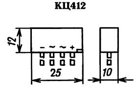 Корпус диодного моста КЦ412