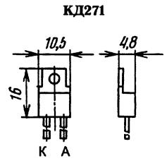 Корпус диода КД271