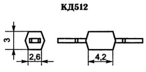 Корпус диода КД512-1