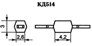 Корпус диода КД514-1