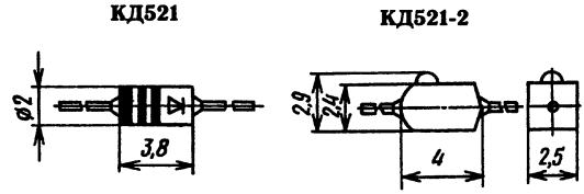 Корпус диода КД521