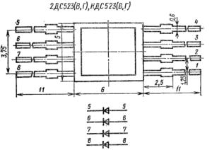 Корпус диодных сборок КДС523, 2ДС523