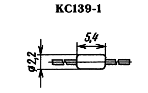 Корпус стабилитрона КС139Д-1