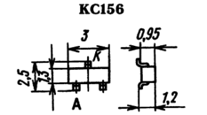 Корпус стабилитрона КС156-9