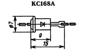 Корпус стабилитрона КС168А