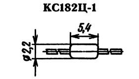 Корпус стабилитрона КС182Ц-1