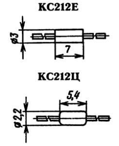 Типы корпусов стабилитрона КС212