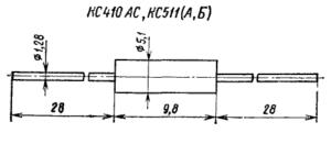 Корпус стабилитронов КС410, КС511