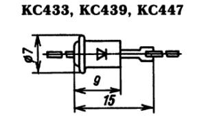 Корпус стабилитронов КС417, КС439, КС447